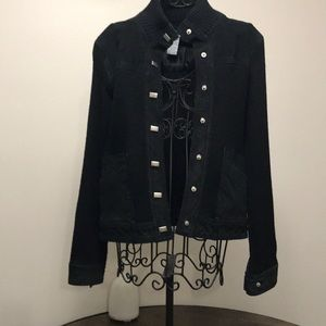 SUEDE AND KNIT JACKET
